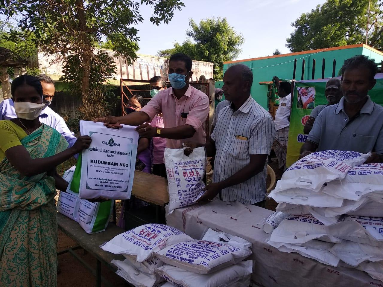 4th phase of relief support to the most vulnerable people affected by Covid-19 lock down in Pudukkottai district