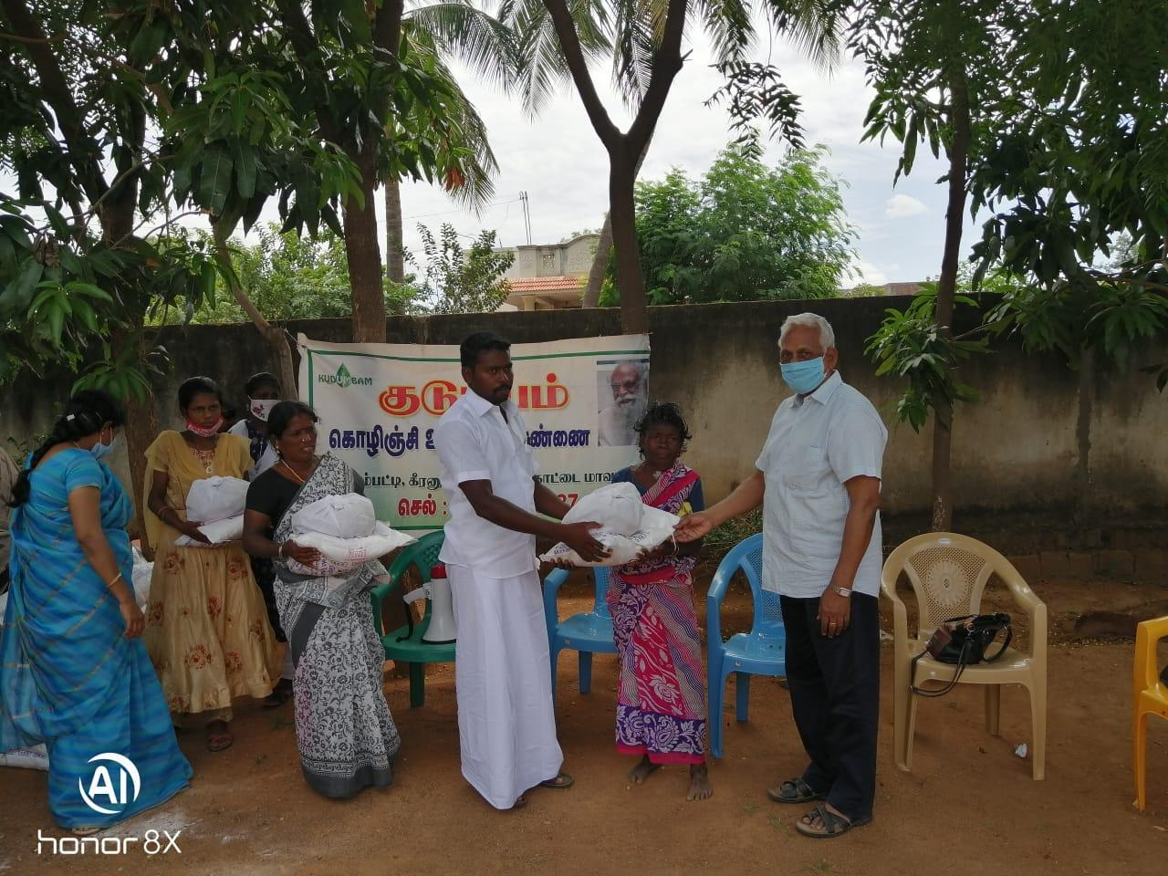 5th phase of Relief distribution for rural community in Pudukkottai district